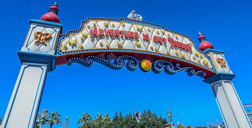 Adventure is out there Pixar Pier sign DCA
