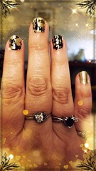 First Nailfie--Black and Gold