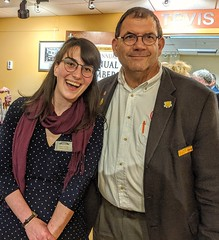 With a Destination Imagination colleague, Emily Huebner, Assistant Director of the Heart of the Civil War Heritage Area at the Carroll Arts Council. 4Nov2019