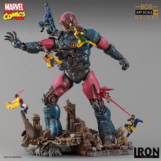 高度逼近 1 公尺的激戰場景,超絕魄力重現! Iron Studios Battle Diorama 系列 Marvel Comics【X戰警大戰哨兵機器人 #1】X-Men Vs Sentinel #1 1/10 比例雕像