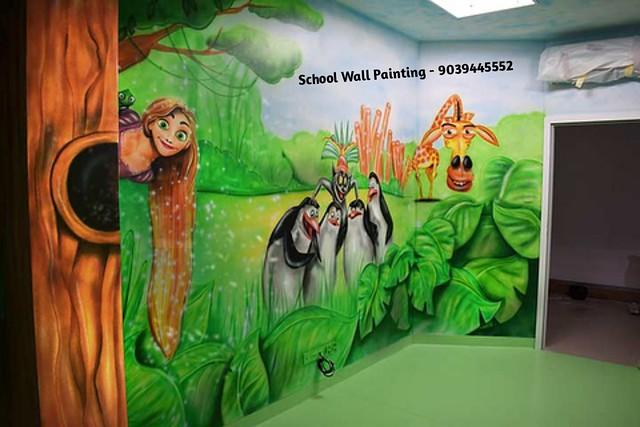 School Wall Painting Artist