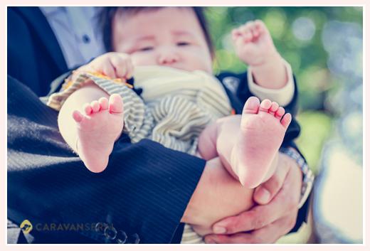 赤ちゃんの足の裏 お宮参り