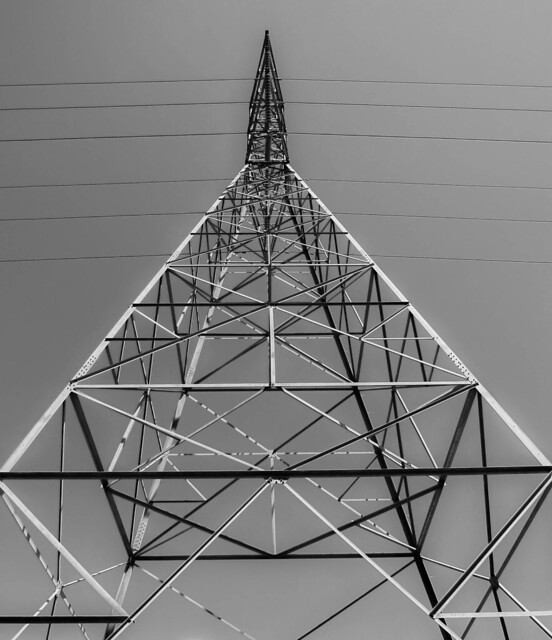 High Voltage Tower and Lines