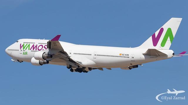 TLV - Wamos Air Boeing 747-400 EC-KXN