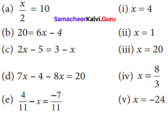 Samacheer Kalvi 8th Maths Solutions Term 2 Chapter 2 Algebra Ex 2.1 2