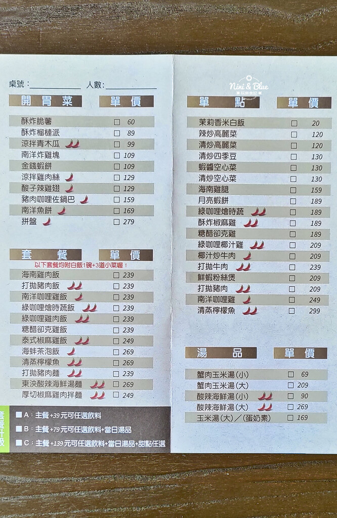 大城享泰食 中科 大坑美食 menu菜單 泰式料理19