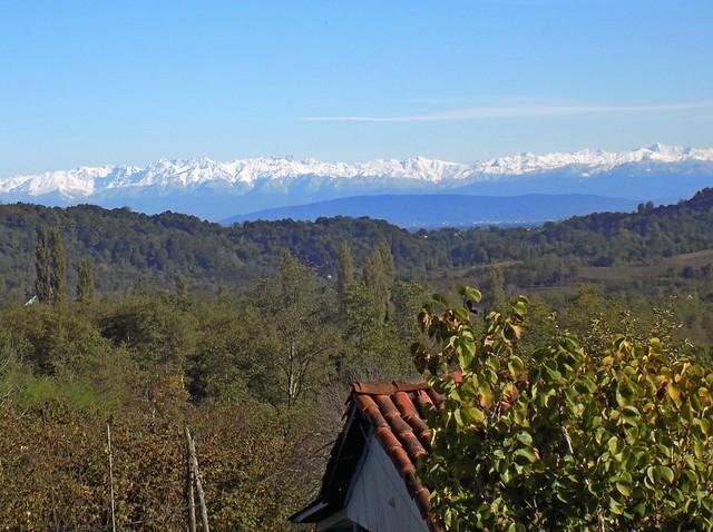 Great Caucasus and Senaki from Lanchkhuti region of Georgia