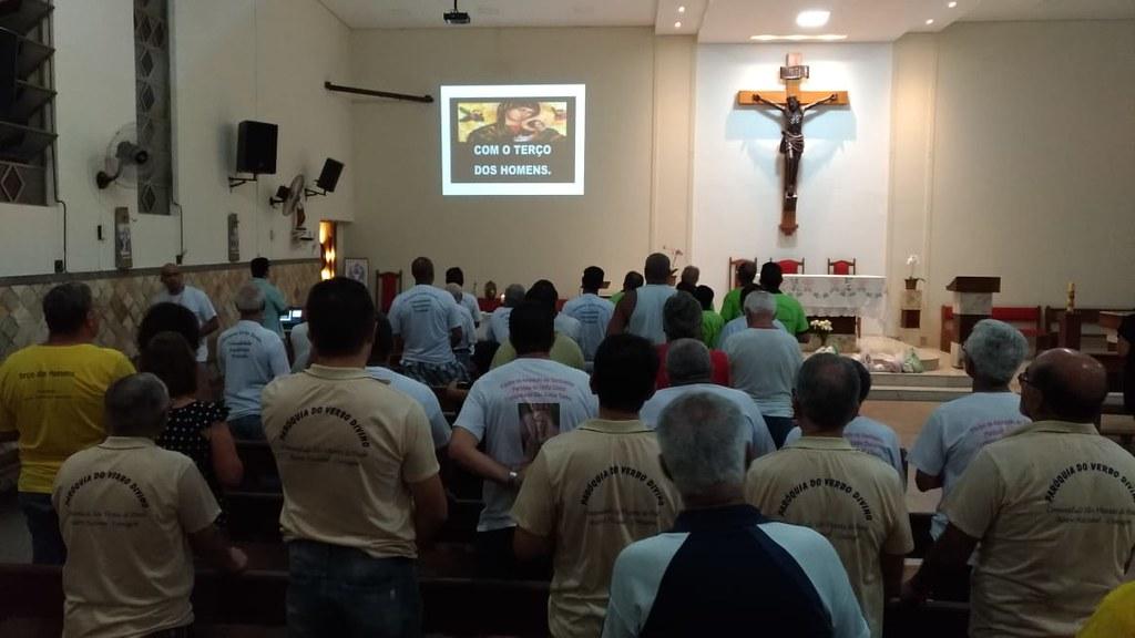 Encontro Paroquial do Terço dos Homens na comunidade Santíssima Trindade