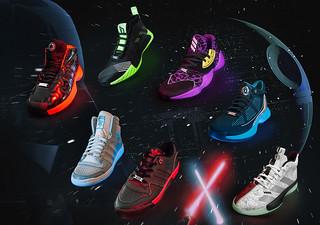 球迷星戰迷嗨翻!Adidas Basketball x《STAR WARS》 2019 結合 NBA球星推出多款光劍Lightsaber 聯名鞋款