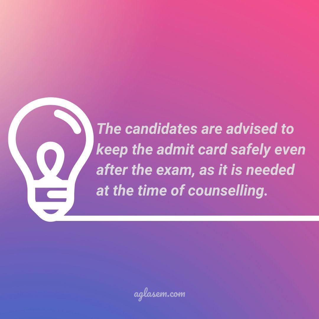 KEAM 2020 Admit Card
