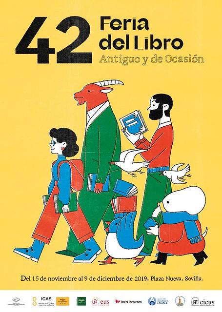 Cartel 42 edición Feria Libro Antiguo