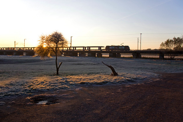 HSL 185 + Güterzug/goederentrein/freight train   - Biederitz