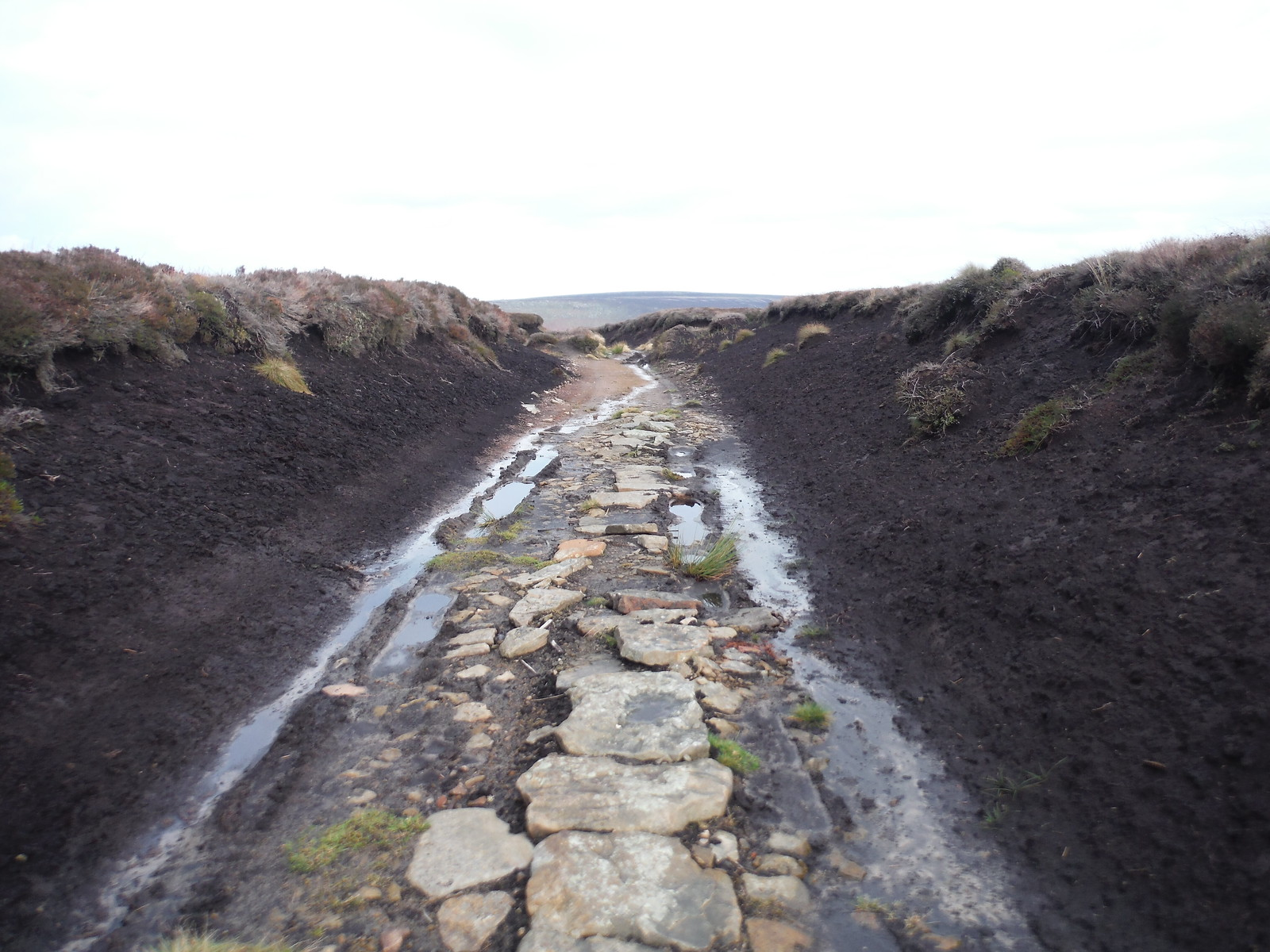 Track deeply cut between Peat Banks, Ridgewalk Moor SWC Walk 350 - Fairholmes Circular (via Bleaklow and Derwent Head) [Grinah Stones and Westend Valley Ending]