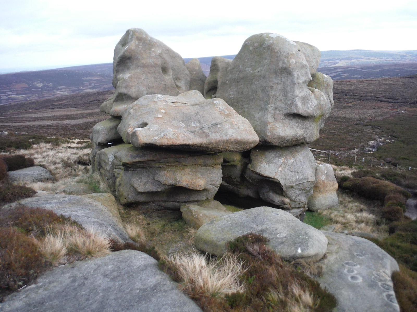 'Big Daddy', Barrow Stones SWC Walk 350 - Fairholmes Circular (via Bleaklow and Derwent Head) [Grinah Stones and Westend Valley Ending]