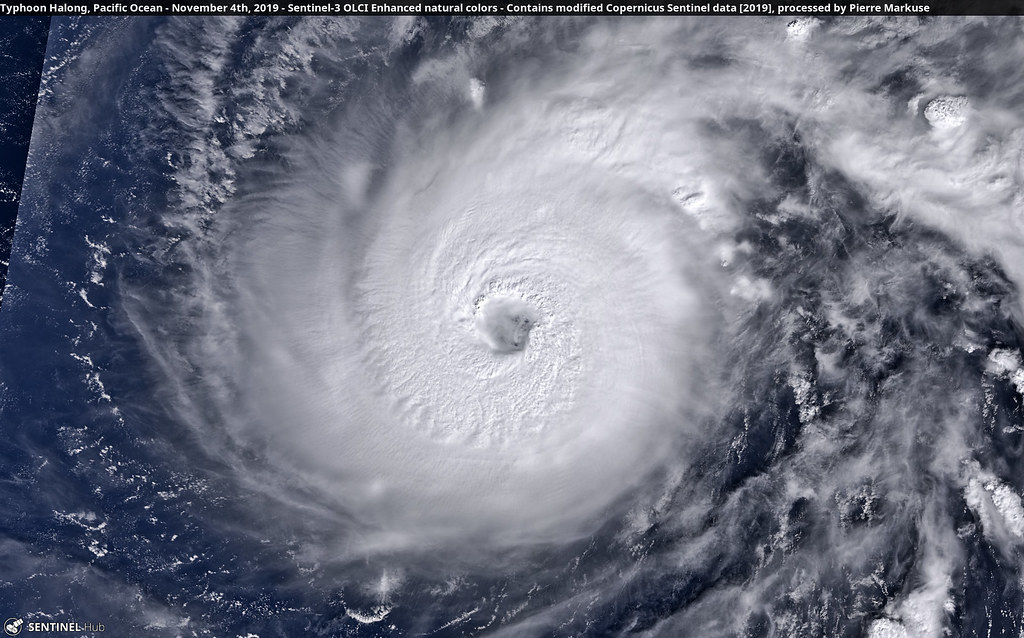 Typhoon Halong, Pacific Ocean - November 4th, 2019