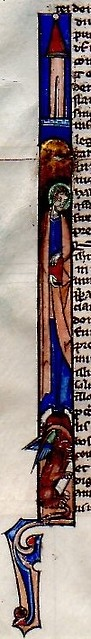 BIBLE LEAF Ref 588 historiated initial