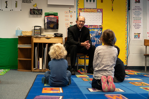 Ludington Area Catholic School hosts Bishop Walkowiak