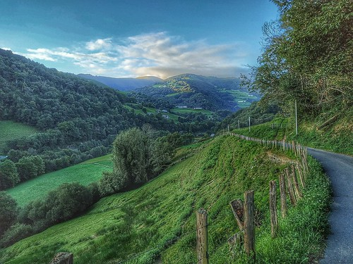 Above the pastures in the Pyrenees
