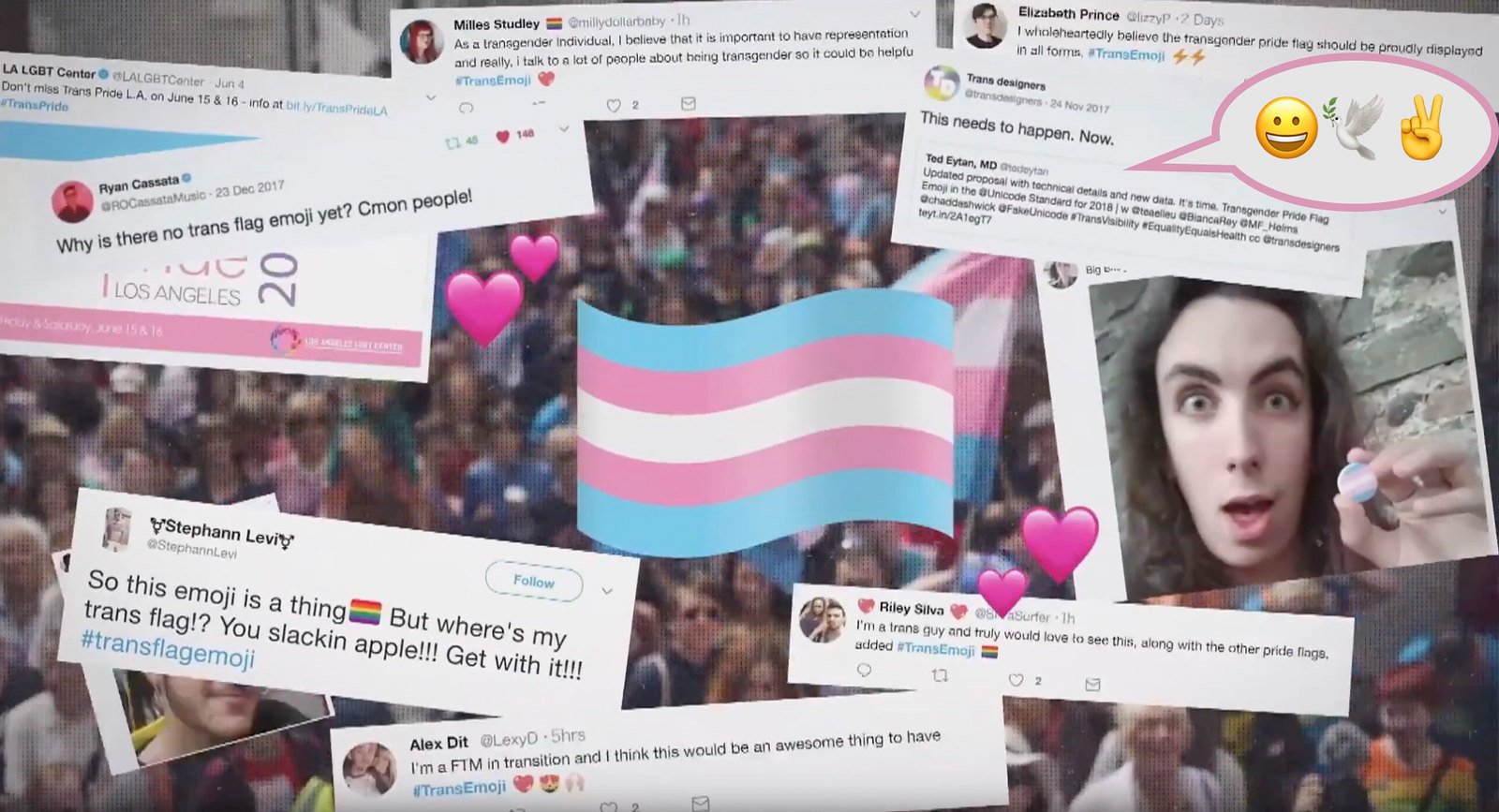 Just Watched: Our Transgender Pride Flag Emoji Proposal is Now in a Documentary: Where Emojis Come From