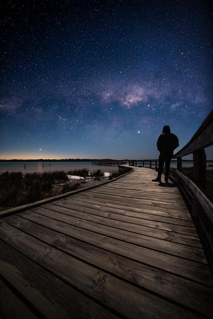 Lake Clifton, Perth Western Australia, Moon lit night