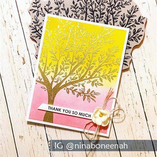 Simon Says Stamp Gold Thank You Card