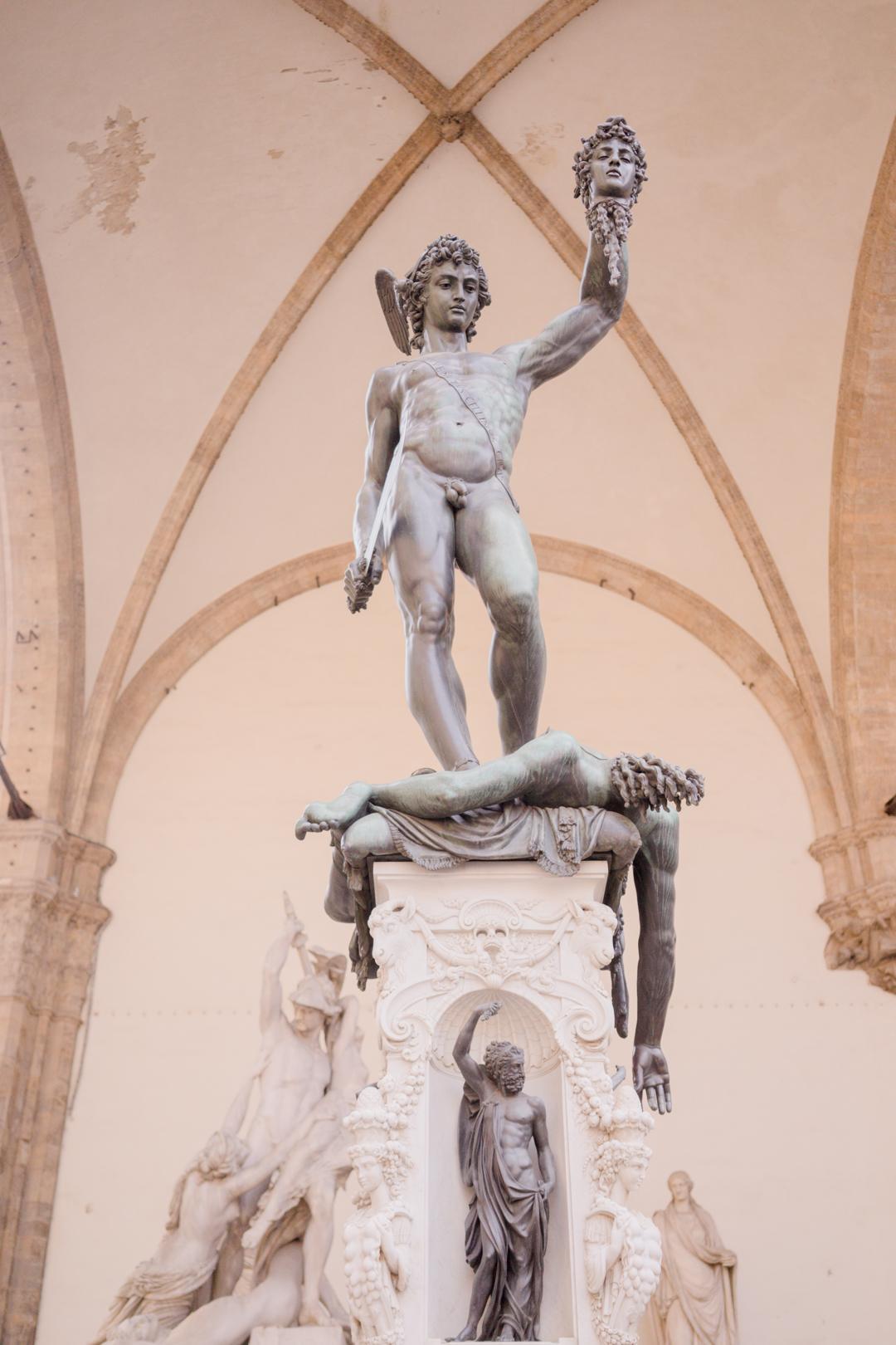 Florence perseus medusa sculpture statue