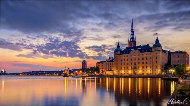 Pink Sunset, Stockholm, Sweden