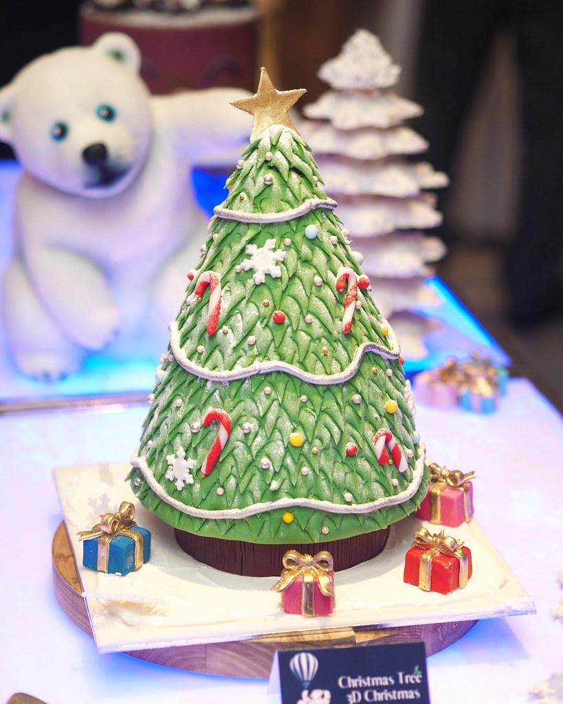 3D Christmas cake1