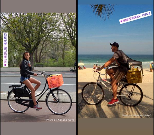 foto Adriana Paiva cyclist cyclists Benoordenhout bairros holandeses bicicletas de carga Haagse Bos ciclista fietser cargo bike periodista journalist jornalista Adriana Paiva