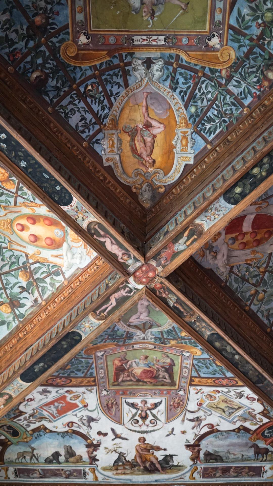 uffizi ceiling florence italy