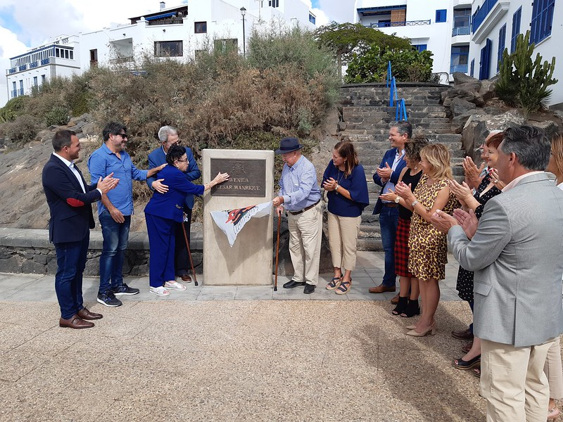 Acto de descubrimiento de placas con los nombres de Parque José Ramírez Cerdá y Avenida César Manrique (05-11-19)
