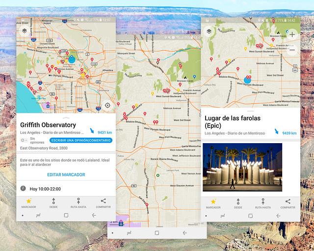 Aplicación móvil gratis con el mapa de la Costa Oeste de Estados Unidos