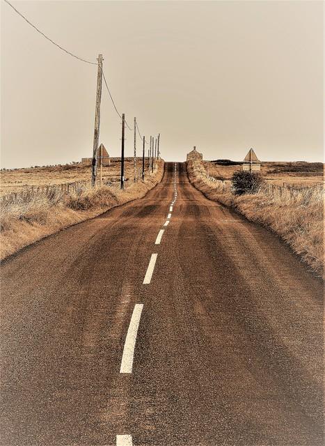 Cresswell to Druridge Road - Monochrome