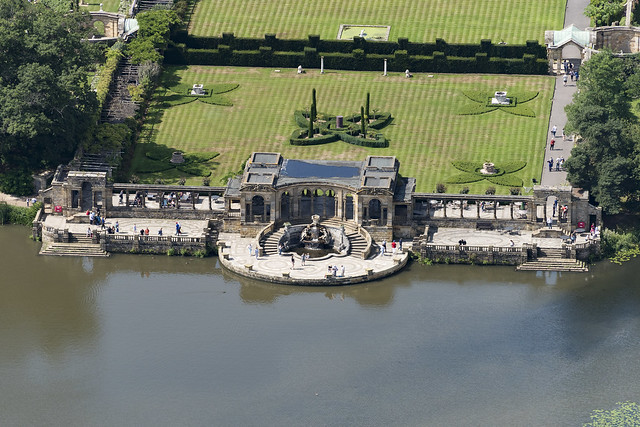 The Loggia at Hever Castle in Kent - aerial image