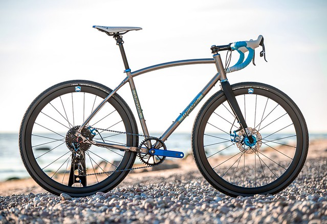 Titanium gravel bicycle with sliding dropouts WITTSON Effugio