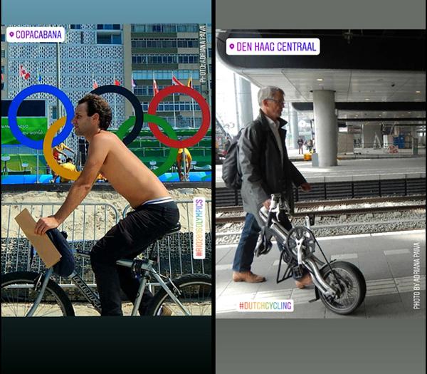 foto de Adriana Paiva bicicleta dobrável estações de trem train estations The Hague Den Haag Netherlands photo bike bikes fietsers europeia europeus Países Baixos Olimpíada Jogos Olímpicos periodista fotos da jornalista Adriana Paiva photos