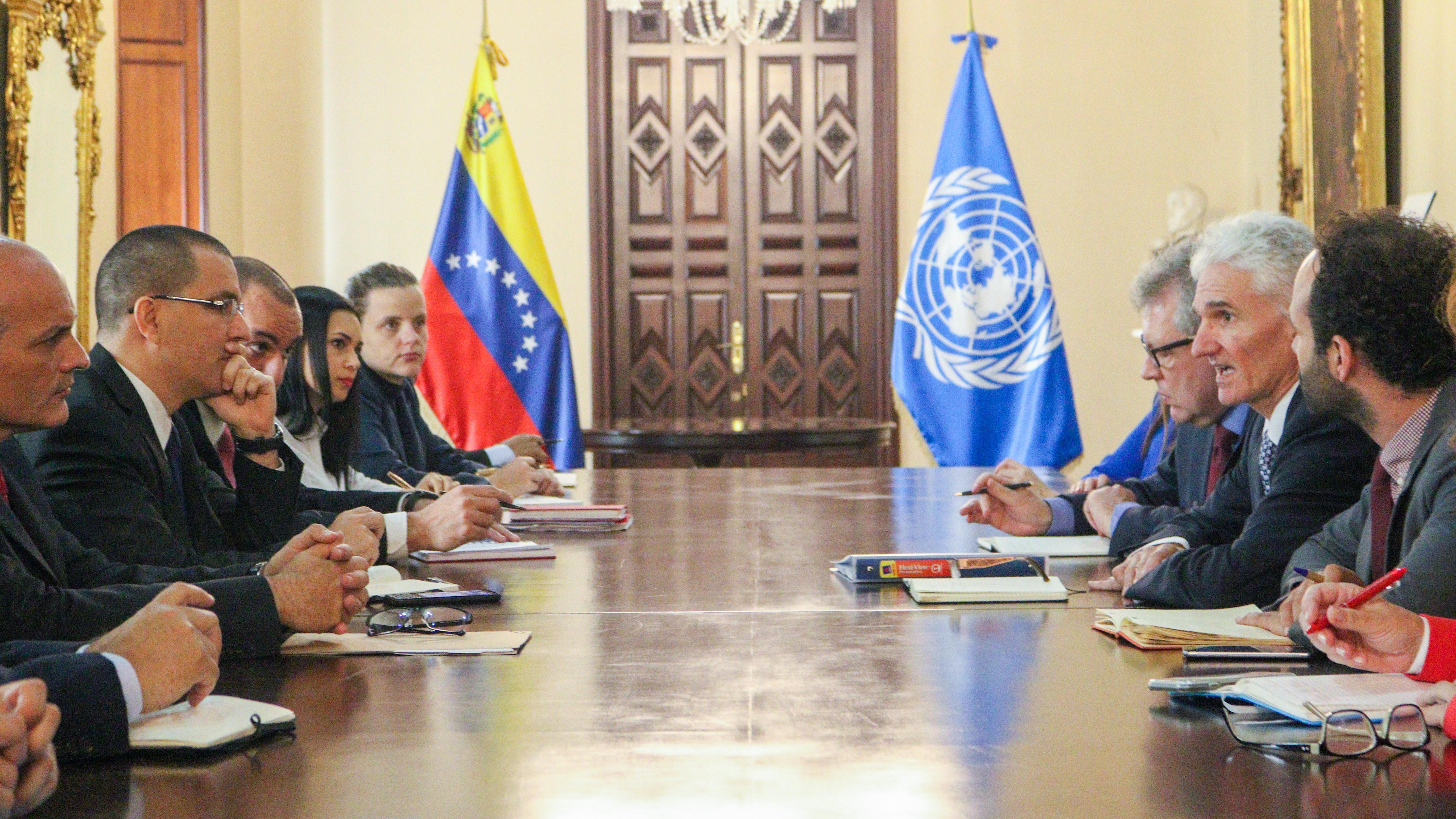 Vicepresidente de Planificación se reúne con Secretario de la de la ONU para Asuntos Humanitarios