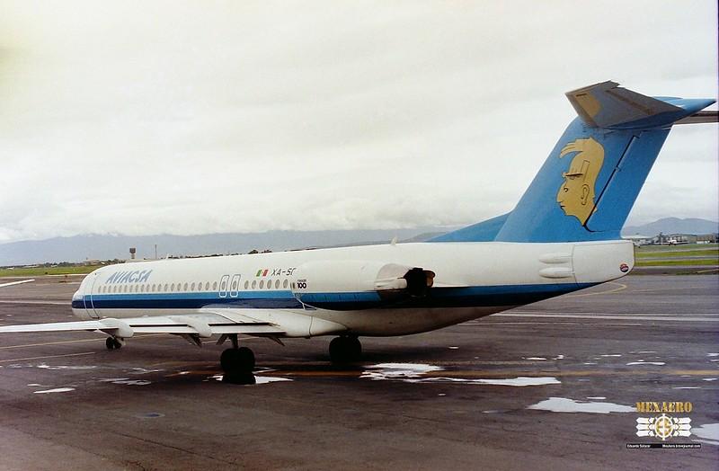 Aviacsa / Fokker F100 / XA.SCD