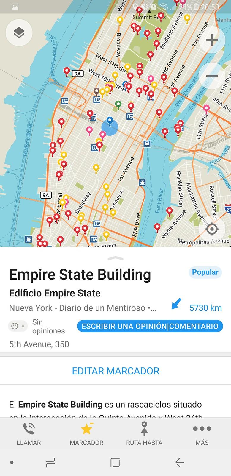 Mapa gratis de Nueva York en Español
