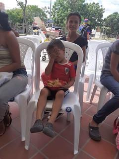 Fotos  del almuerzo mandadas por la Fundación Nueva Ilusión