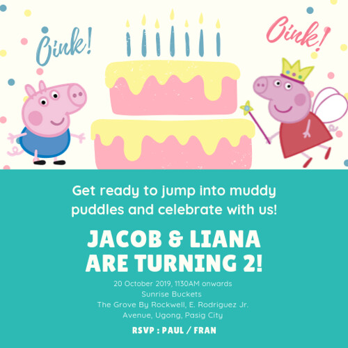 peppa birthday invite