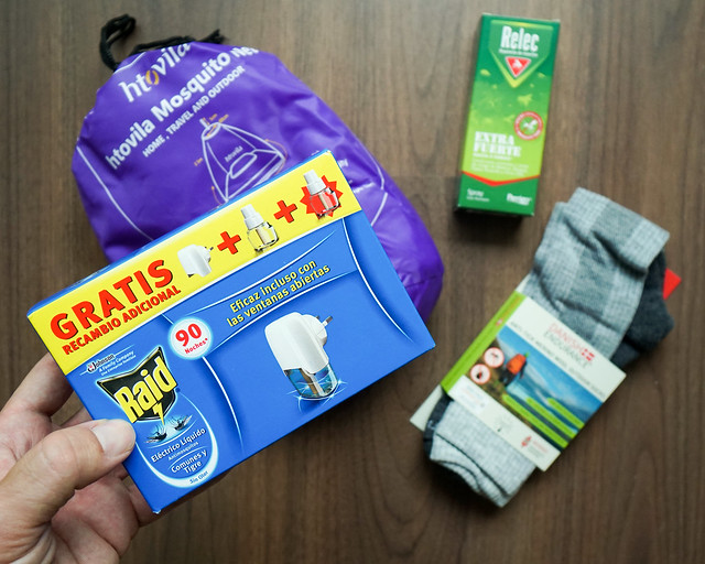 Kit antimosquitos para protegerse en países con malaria