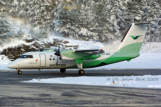 Widerøe Dash 8 LN-WIG at ENSD/SDN 23-11-2008 | by Ole Johan Beck