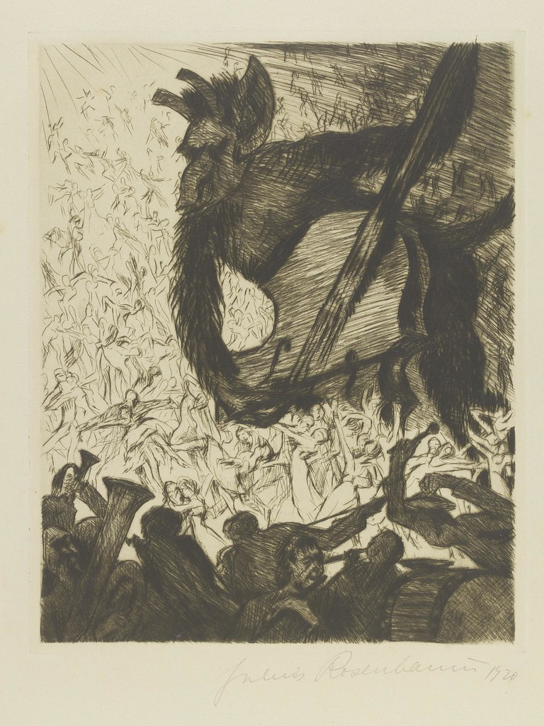 Julius Rosenbaum - Illustration from 'Judith' by C. F. Hebbel, entitled 'Taumel' or 'Frenzy'.  1922