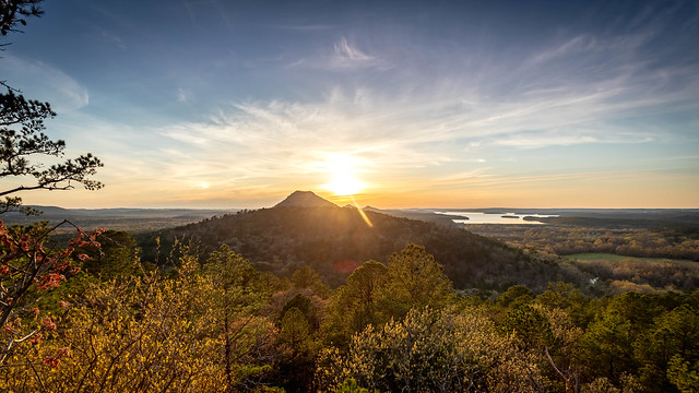 Sunset on Maumelle Pinnacles - revisited. Little Rock, Arkansas.