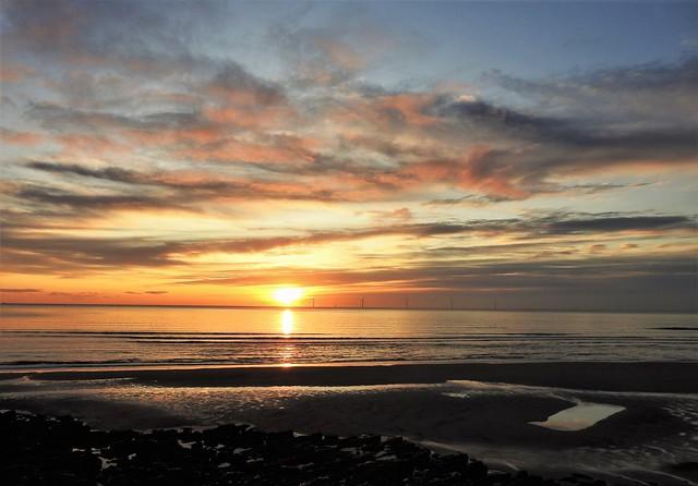 Cambois Morning - Beach Sunrise