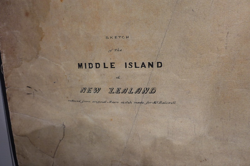 Detail from map of the South (Middle) Island