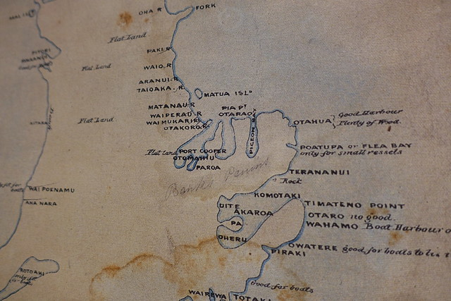 Detail from map of the South (Middle) Island, showing Christchurch and Banks Peninsula region