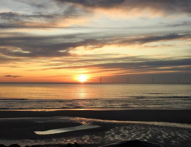 North Sea Sunrise - Cambois Beach