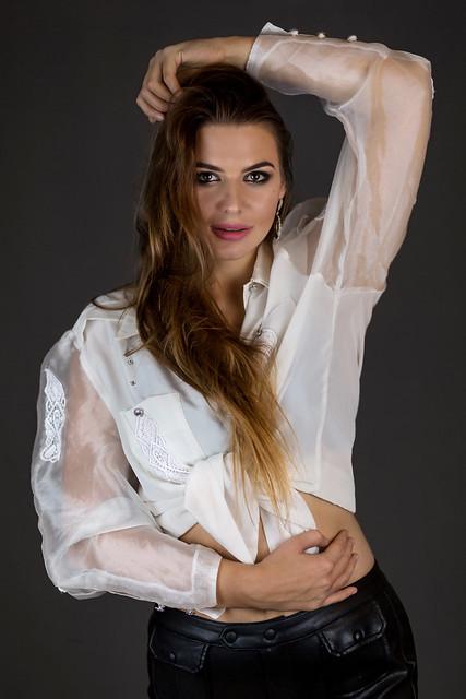 Kornelia in white blouse